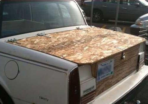 Деревянный багажник