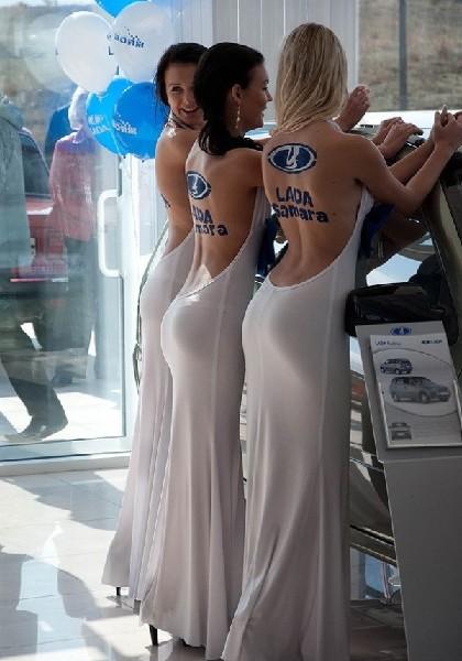 Девушки и Lada Samara1