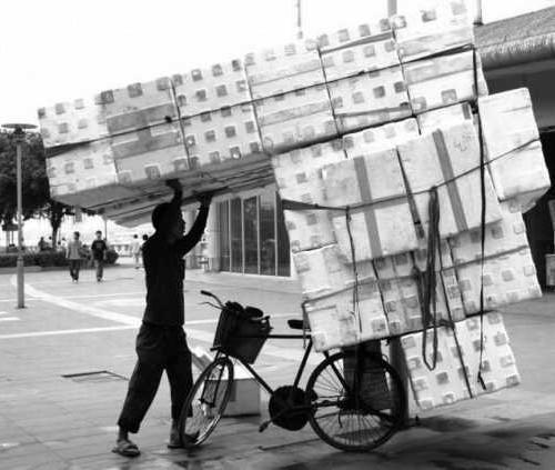 Коробки и велосипед