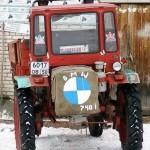 Прикольный трактор BMW - автоприкол