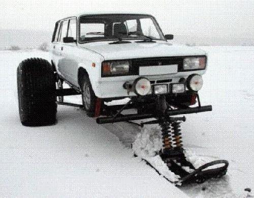 Установка лыж на ВАЗ