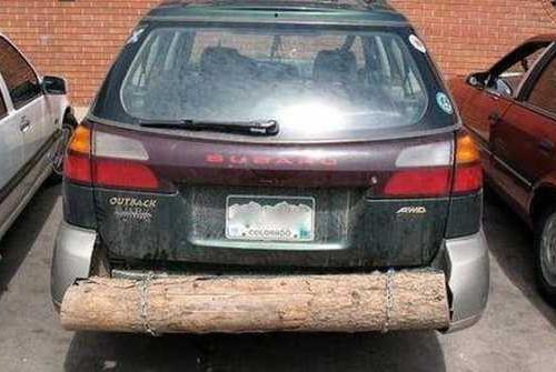 Задний бампер из дерева