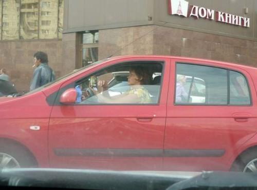 девушка-водитель