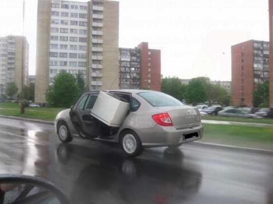 перевозка холодильника в авто