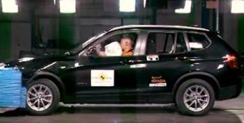 BMW X3 2011 краш-тест (видео)
