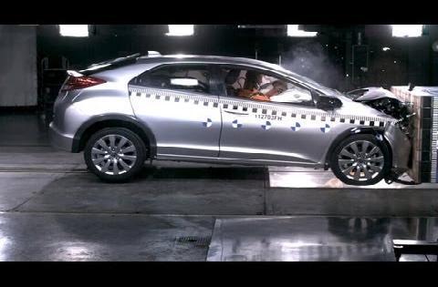 Краш-тест новой Honda Civic 2012