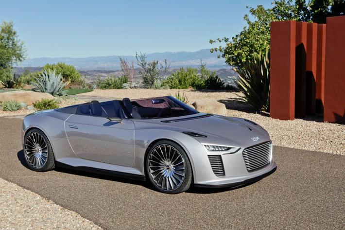Audi e-tron Spyder видео