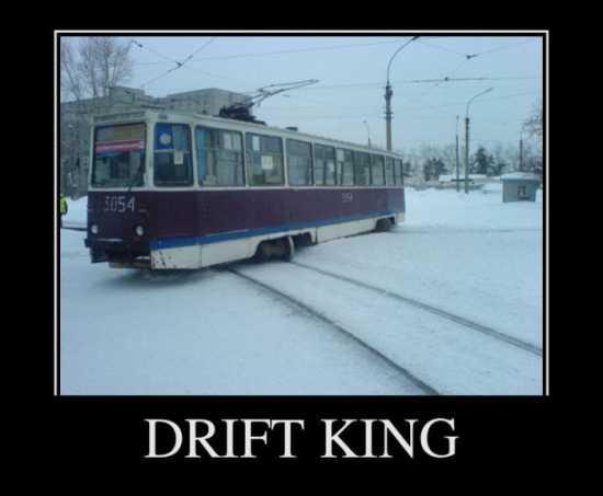 Дрифт на трамвае