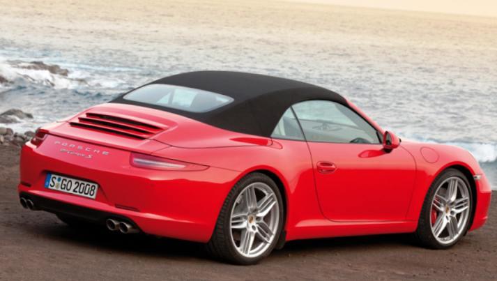 Фотография кабриолета Porsche 911 Carrera 2012 года