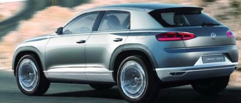 Задние фонари VW Cross Coupe