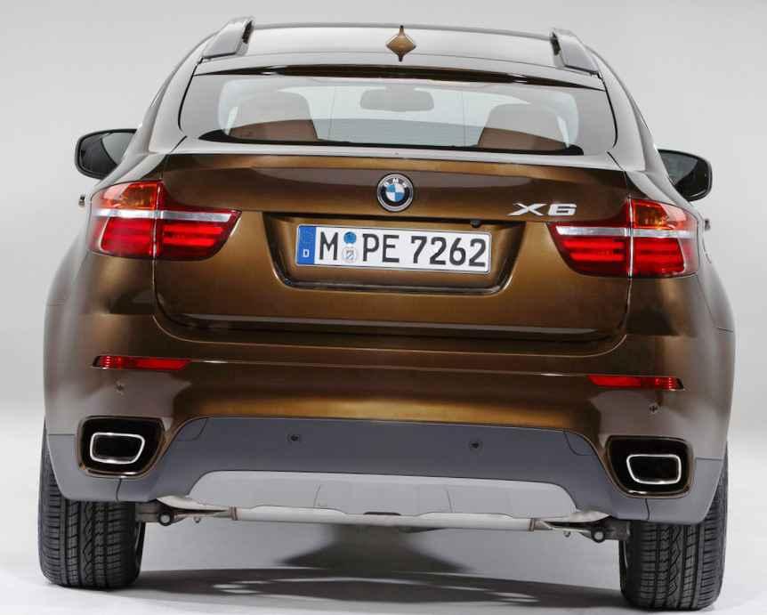 BMW X6 2012 - фото сзади