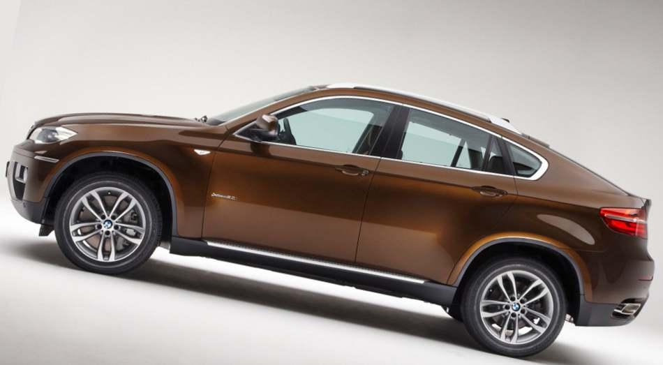 Фото сбоку BMW X6 2012