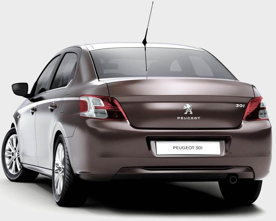 Задние фонари Peugeot 301 2013