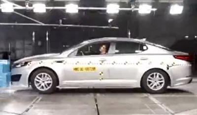 Краш-тест Kia Optima 2012 года - фото