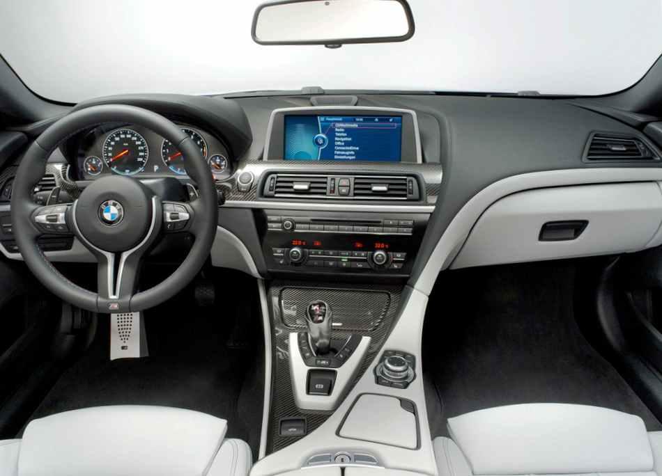 Салон BMW M6 2012 - фото