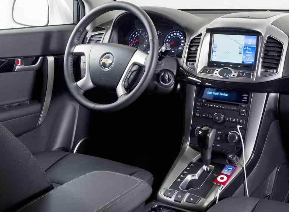 Салон Chevrolet Captiva 2012 года