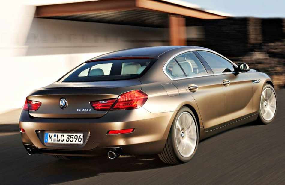 Задние фонари BMW 6-Series Gran Coupe 2013