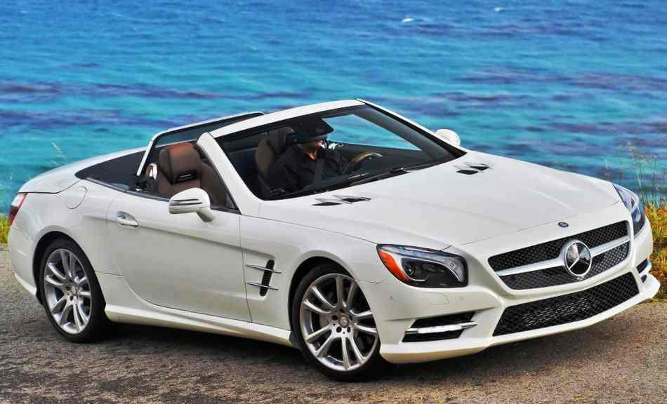 Фото сбоку Mercedes SL550 2013
