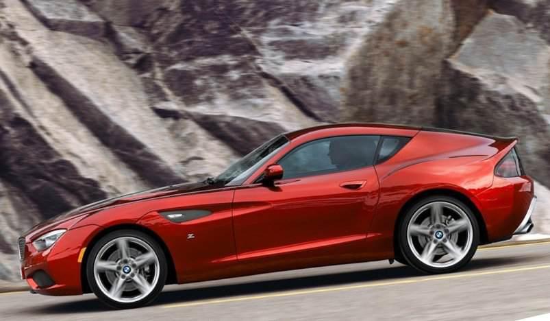 Фото сбоку BMW Zagato Coupe 2012