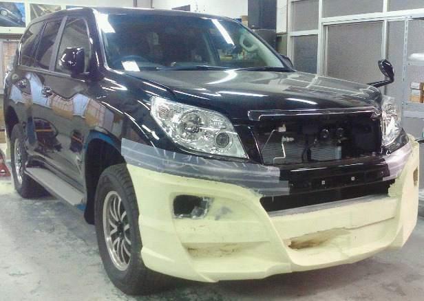 Тюнинг переднего бампера Toyota Land Cruiser Prado