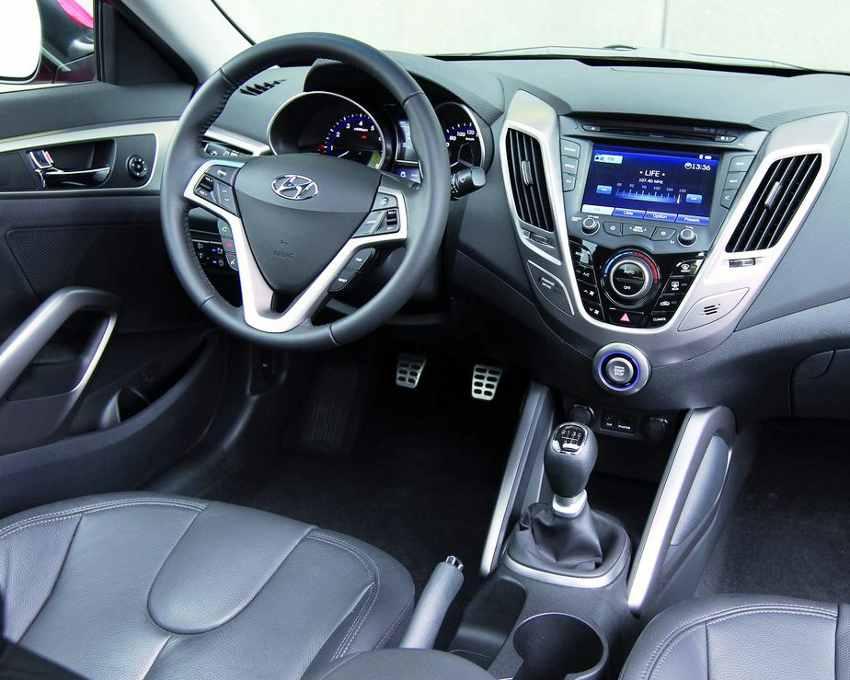 Салон Hyundai Veloster 2012 года
