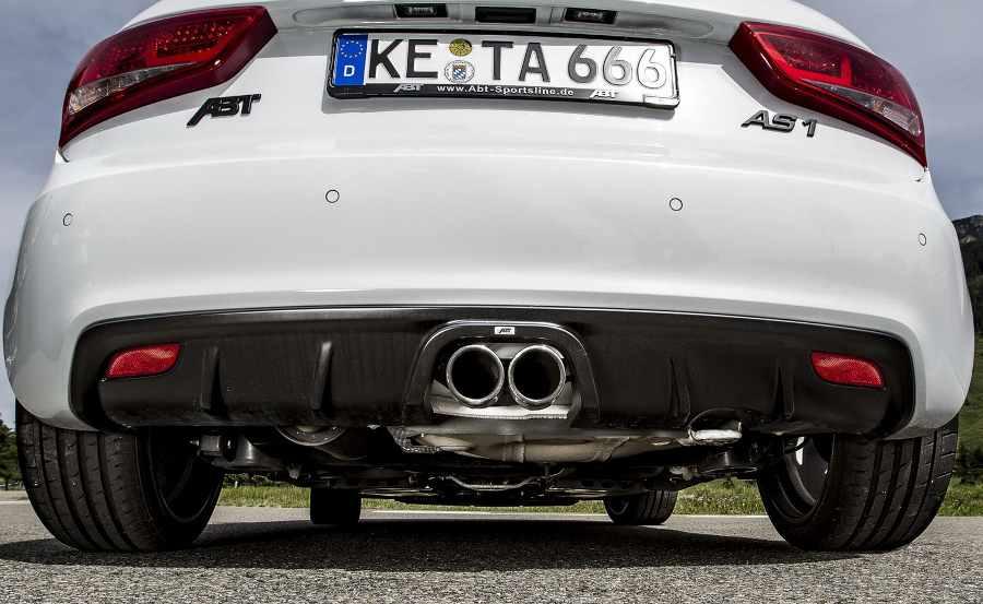 Тюнинг выхлопной системы Audi A1 Sportback 2012 года