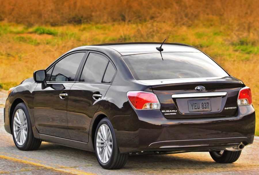Задний бампер Subaru Impreza 2012