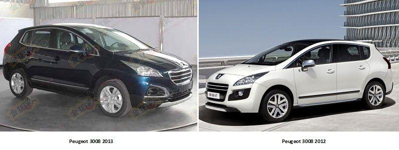 Сравнение Peugeot 3008 2013 и 2012