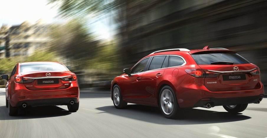 Задний бампер Mazda 6 универсал 2013