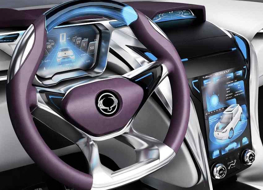 руль и передняя панель SsangYong e-XIV 2012