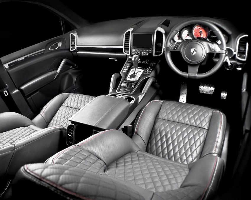 салон тюнингованного Porsche Cayenne Diesel 2013