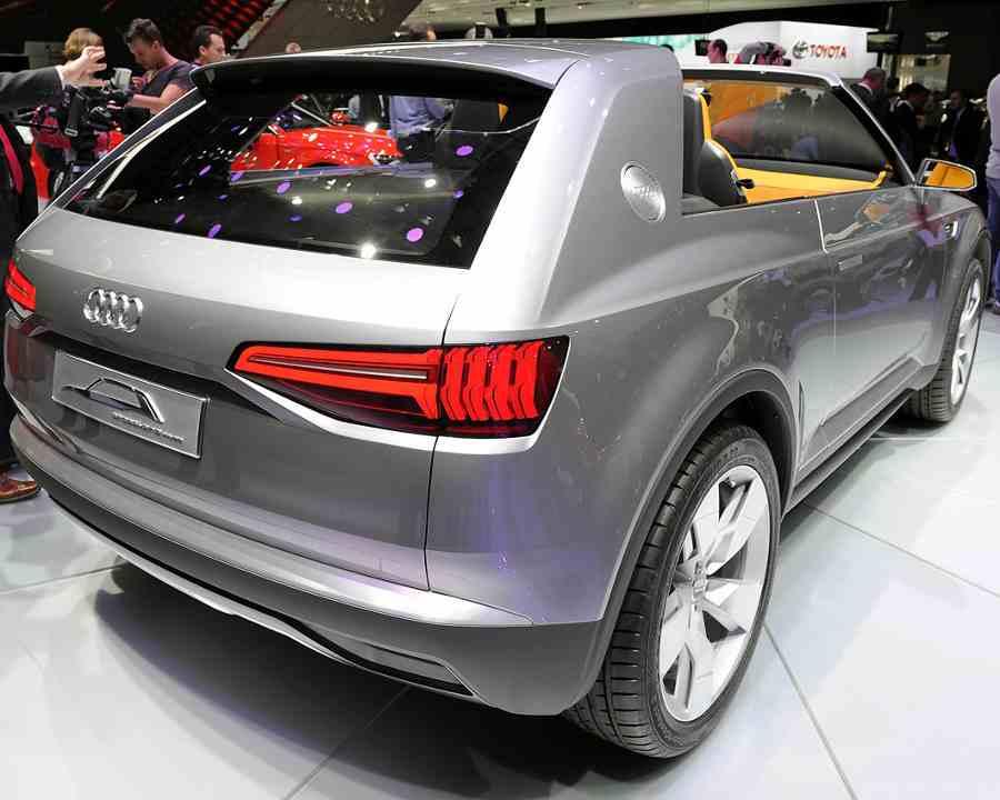задние фонари Audi Crosslane Coupe 2012