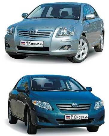 Toyota Avensis и Corolla