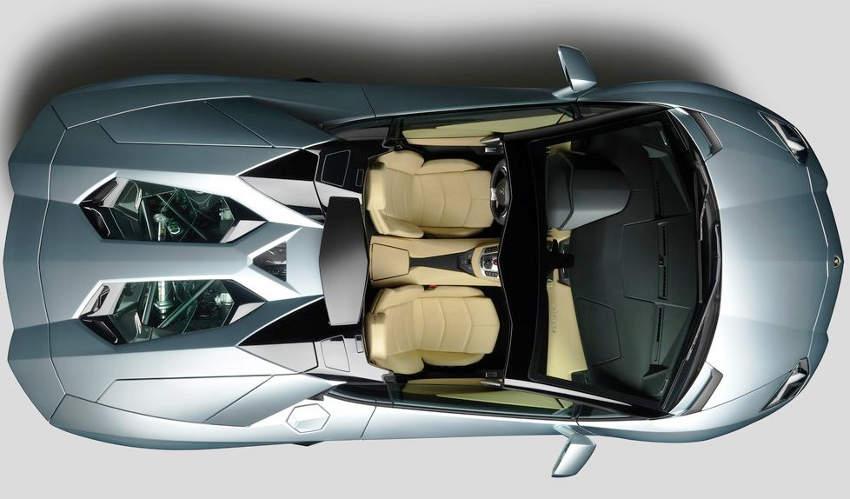 фото родстера Lamborghini Aventador LP700-4 2014 сверху