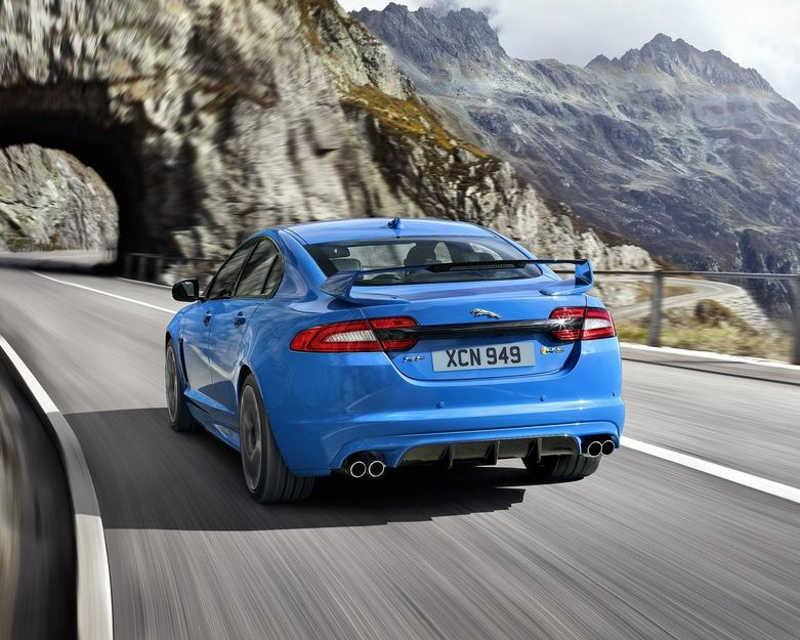 задний спойлер Jaguar XFR-S 2013