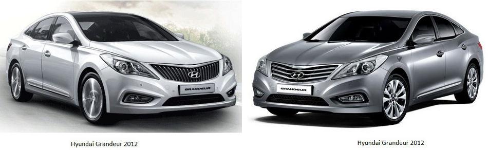 Сравнение Hyundai Grandeur 2013 и 2012 годов