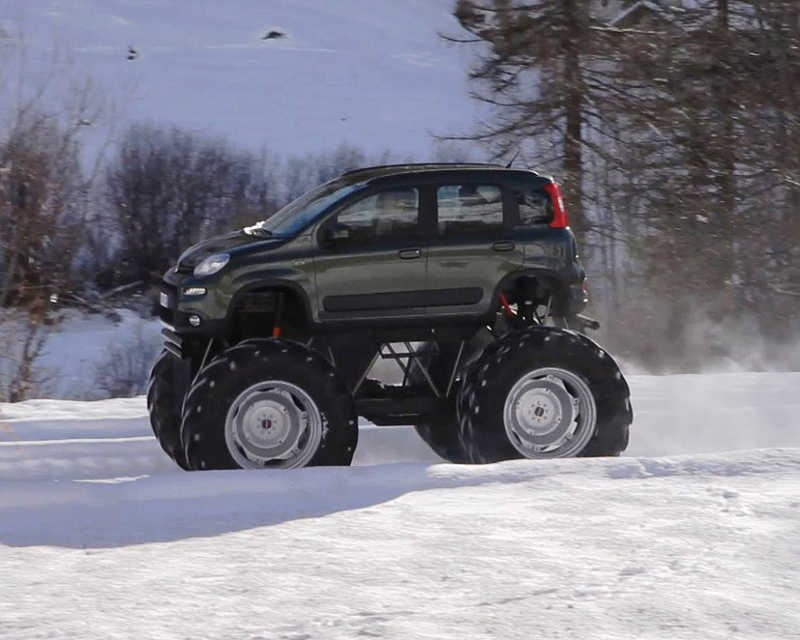 фото Fiat Panda Monster Truck сбоку