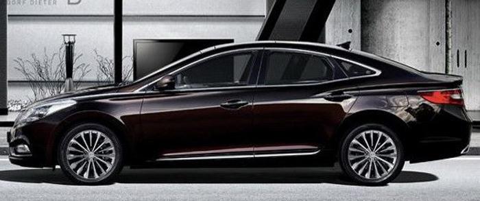 фото Hyundai Grandeur 2013 сбоку