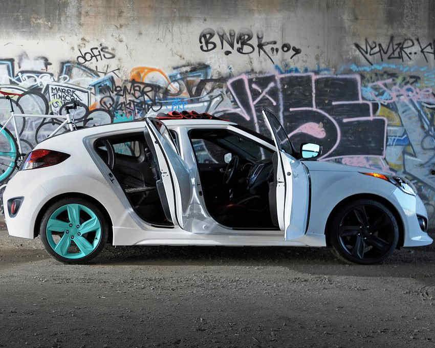 фото концепта Hyundai Veloster C3 Roll Top сбоку