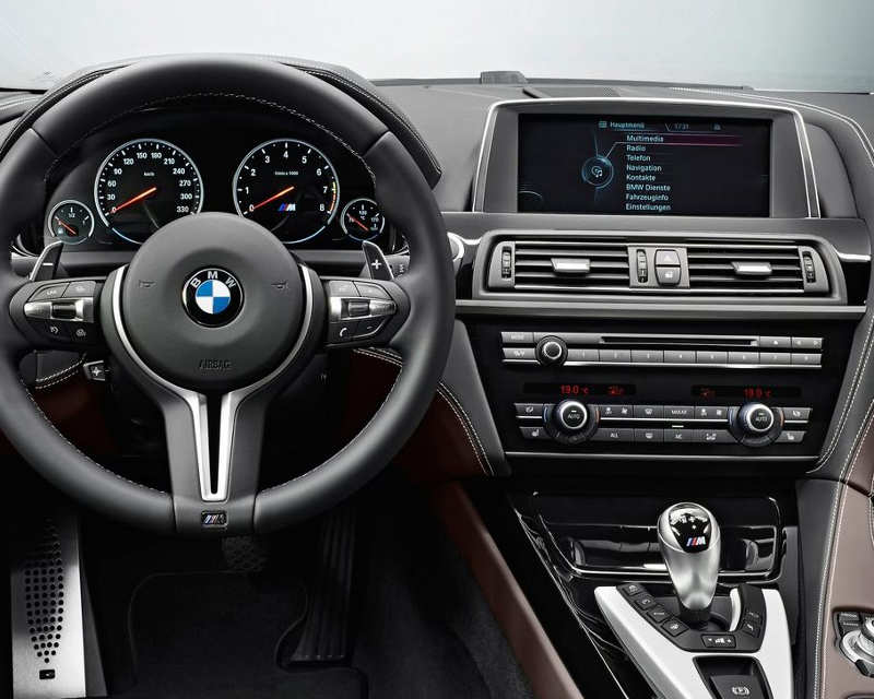 салон BMW M6 Gran Coupe 2014 года