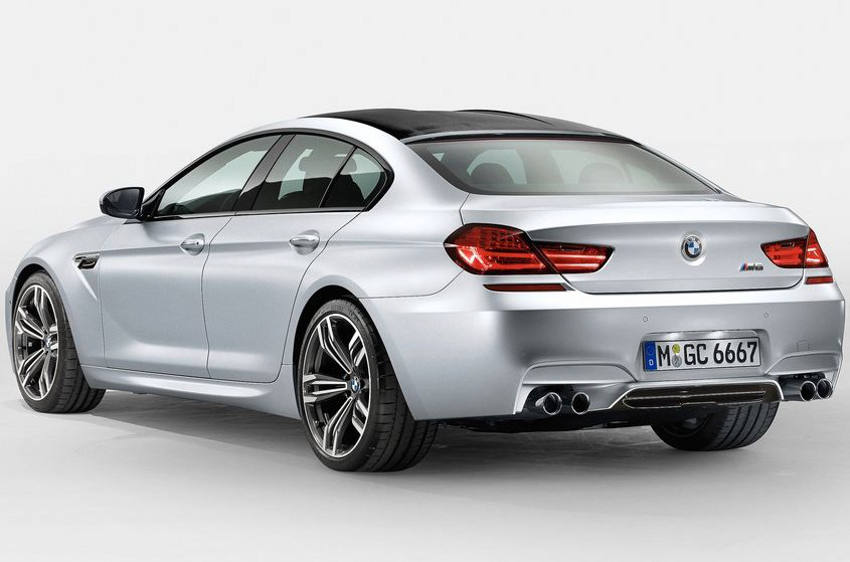 задняя часть BMW M6 Gran Coupe 2014