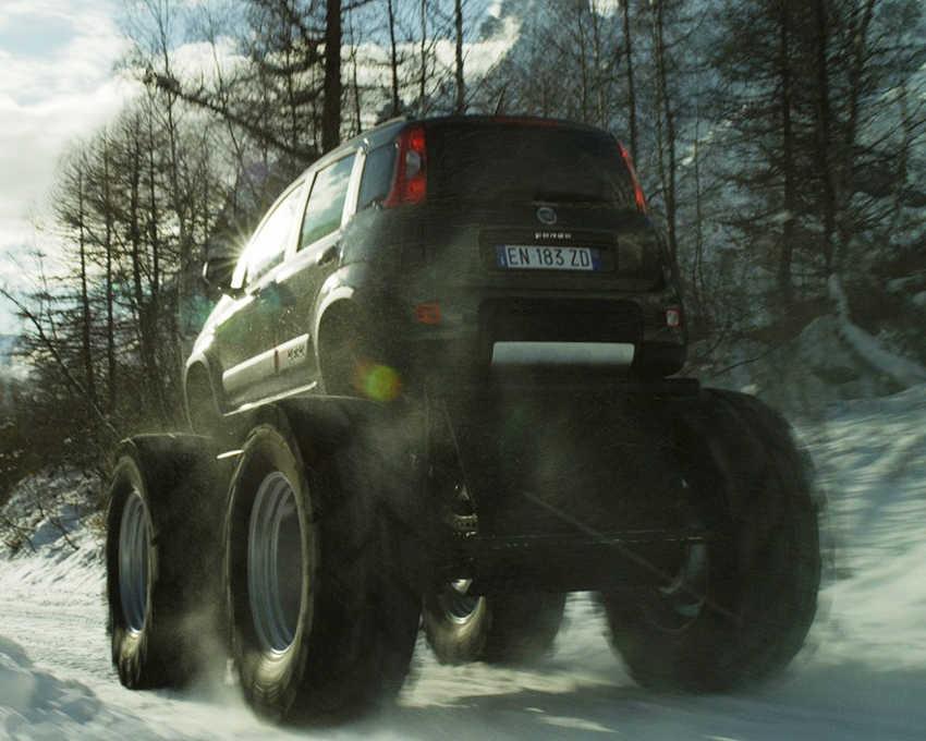 задняя часть Fiat Panda Monster Truck