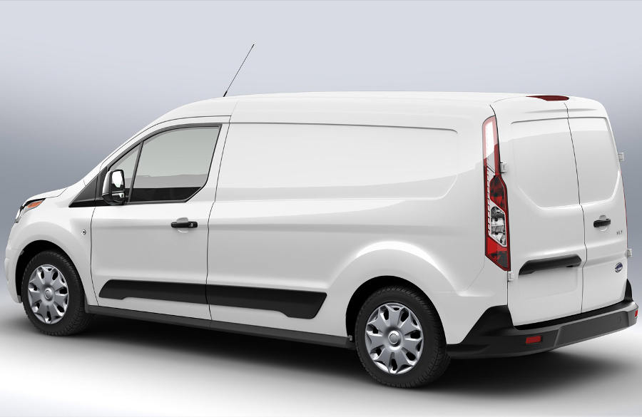 задняя часть Ford Transit Connect 2014 года