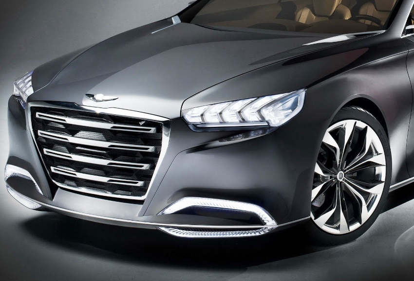 бампер и фары Hyundai HCD-14 Genesis 2013