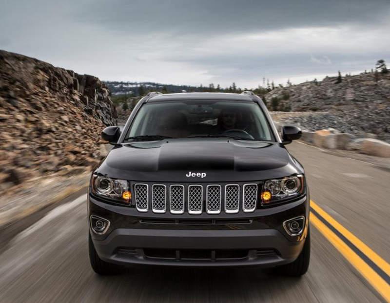 бампер и фары Jeep Compass 2014