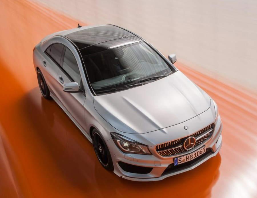 фото Mercedes CLA-Class 2014 сверху