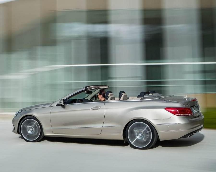 фото Mercedes E-Class Кабриолет 2014 сбоку