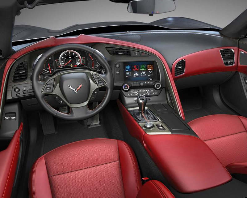 салон Chevrolet Corvette C7 Stingray 2014