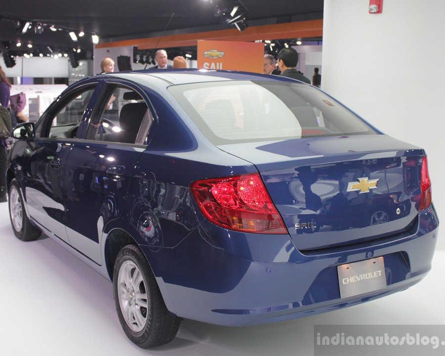задняя часть Chevrolet Sail 2014