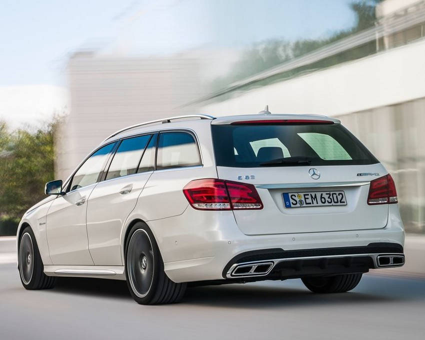 задняя часть Mercedes E63 AMG Estate 2014